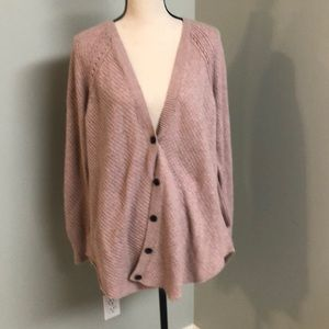 American Eagle Outfitters pale pink cardigan